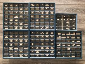 Organizing drawers 6pc lot 190drawers!!! $60 garage hobby craft storage for Sale in Peoria, AZ