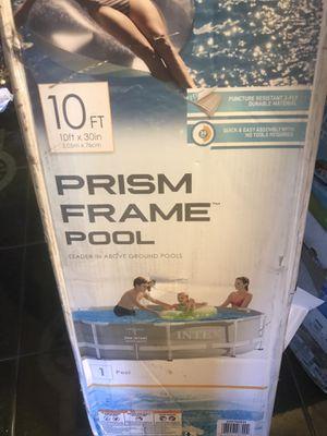 Intex 10' X 30'' prism metal frame pool no pump for Sale in Fresno, CA