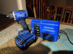 Kobalt 24v 3/8 brushless impact wrench. Charger and 4.0ah battery included for Sale in Missoula, MT