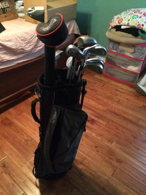Golf mizuno clubs with Wilson bag for Sale in Tampa, FL