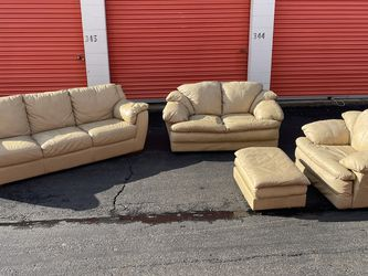 4 Piece Leather Couch Set for Sale in Bensalem,  PA