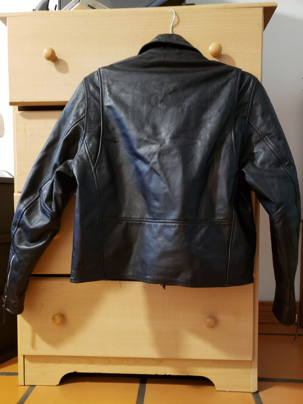 Womens medium leather Motorcycle Jacket and Vest