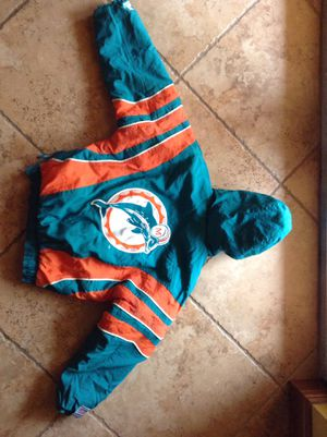 Dolphins jacket w/hoodie $65.00 Lg. YOUTH for Sale in Homestead, FL