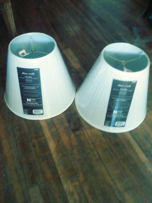 "2 lamp shades Height 11"" Top diameter 7"" Bottom diameter 14"" $10 for both for Sale in San Antonio, TX"