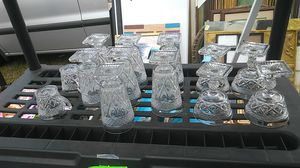 Crystal style glassware $1 each for Sale in Tampa, FL