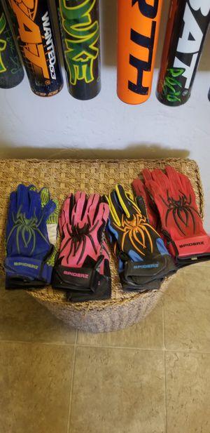 Adult softball bats, batting gloves, and roller bag. for Sale in Hughson, CA
