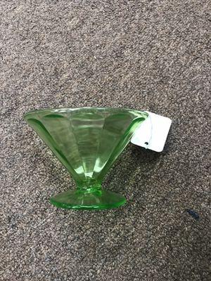 Uranium Glass Dessert Cups Set of 5 for Sale in Henderson, NV
