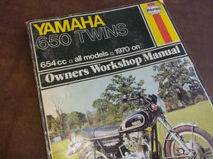 Haynes Motorcycle Repair Manual Yamaha 650 Twins,All Models,70 on. for Sale in Yucaipa, CA