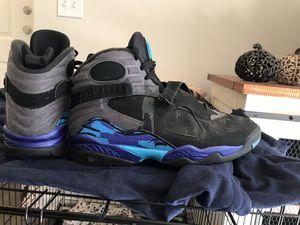 Aqua 8's (size 12) Jordan's (9/10 condition) for Sale in Alpharetta, GA