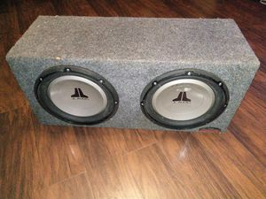 2 12s jl audio 12w1v2 for Sale in Humble, TX