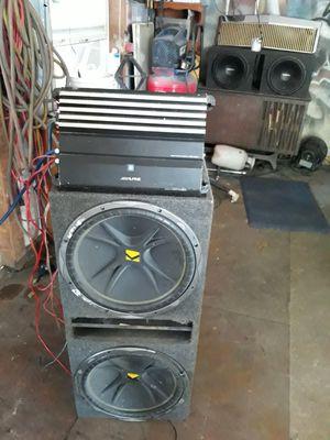 Kicker 15s and 800 watt alpine monoblock for Sale in Waco, TX