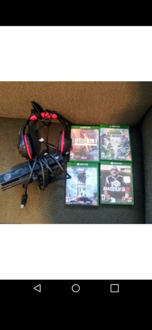 Xbox One w/Games,Kinect $130 for Sale in Providence, RI