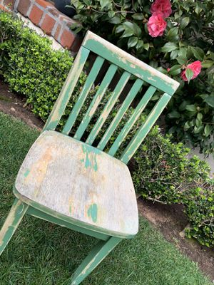 Adorable Antique Vintage Shabby Chic Green Children's Chair or End Table for Sale in San Diego, CA
