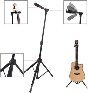 MIMIDI Guitar Stand, Adjustable Vertical Tripod Hanging Guitar Stands with Security Gravity Automatic Locking Head for Acoustic Electric Bass Guitars for Sale in Brooklyn, NY
