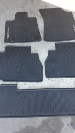 SET OF TOYOTA SEQUOIA FLOOR MATS . FITS FROM 2007 TO 2019 SEQUOIA . ALL IN GREAT CONDITION. for Sale in Henderson, NV