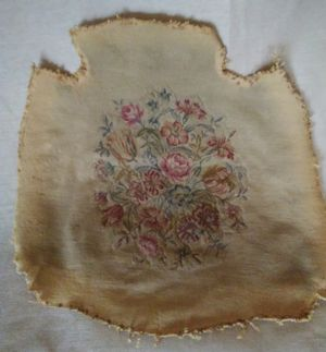 Antique Balloon Chair Seat Tapestry for Sale in Akron, OH