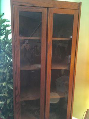 Solid oak desk and curio cabinets for Sale in Philadelphia, PA