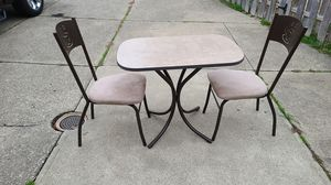 2 Person Breakfast Table with Chairs for Sale in Willoughby, OH