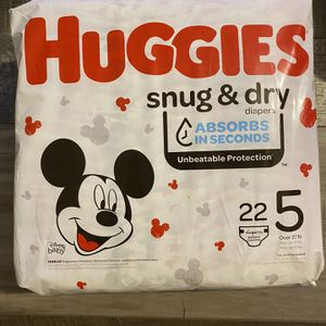 Huggies snug & dry diapers size 5 for Sale in San Bernardino, CA