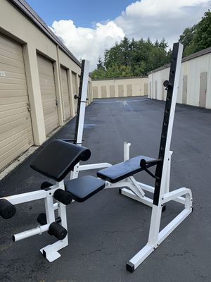 Olympic squat rack and bench for Sale in Kent, WA