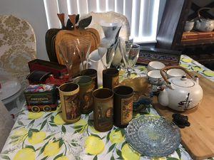 36 pieces wine glass/ tea pot/tea cups/ plates/ bowls/ vase for Sale in Miami, FL