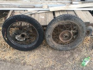 Old motorcycle wheels for Sale in Porterville, CA