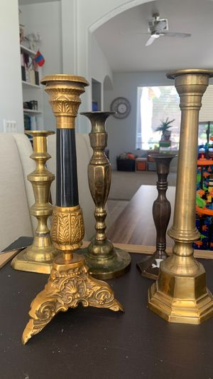Misc Brass candle holder package for Sale in Las Vegas, NV