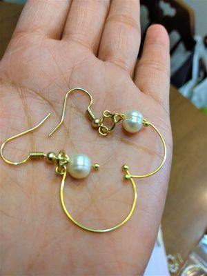 Natural fresh water Pearl Earring halfmoon design for Sale in Peoria, IL