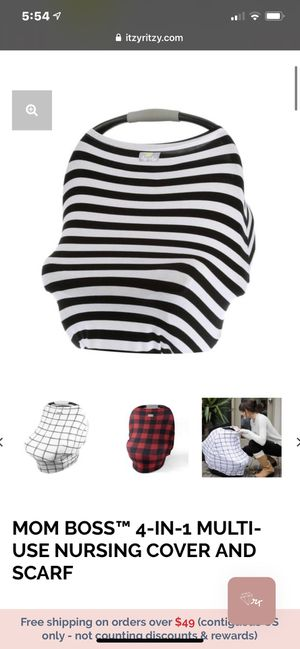 New ITZY RITZY MOM BOSS™ 4-IN-1 MULTI-USE NURSING COVER , CARSEAT COVER AND SCARF for Sale in Rio Linda, CA