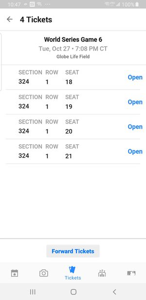 World Series Tix Game 6 for Sale in San Clemente, CA
