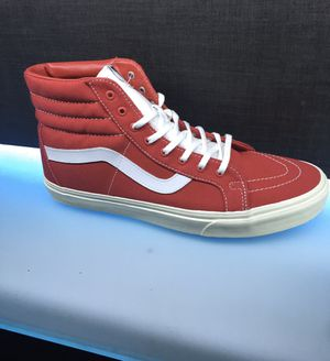 """Vans """"SK8-Hi"""" Sneakers (Racing Red/Off White) Men's High Top Canvas Skate Shoes Size 5 Mens 6.5 Womens for Sale in Plano, TX"""