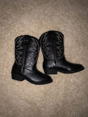 Brand new black unisex kids boot cowboy toddler for Sale in Rowlett, TX