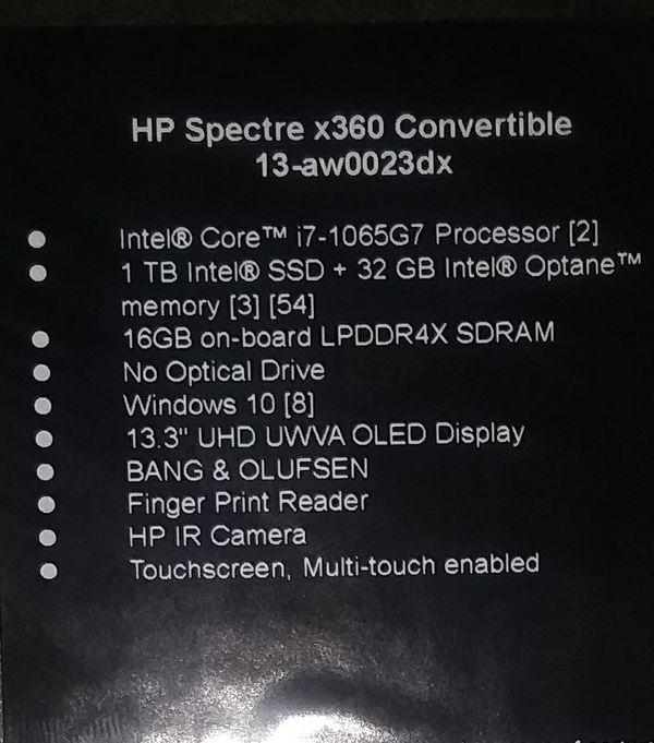 HP-spectre x360 convertible 13-aw0023dx