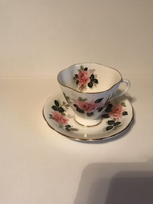 Antique Clarence Bone China England Pink Rose Tea Cup & Saucer for Sale in Surprise, AZ