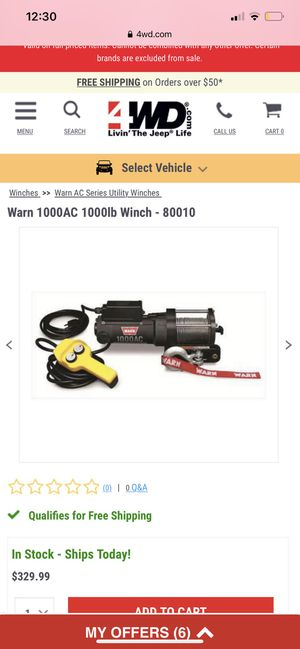 Warn1000lb electric winch for Sale in Albany, GA