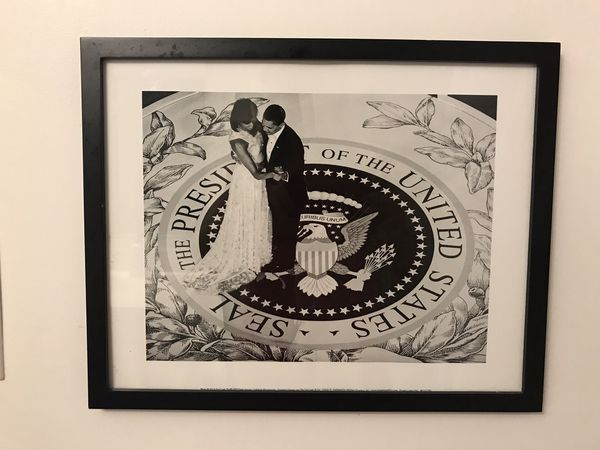 $8 - Black and White Photograph of Michelle and Barack Obama (Pick Up Only)