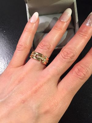 Unisex 18K Gold plated Engagement Ring💍🤩 for Sale in Dallas, TX