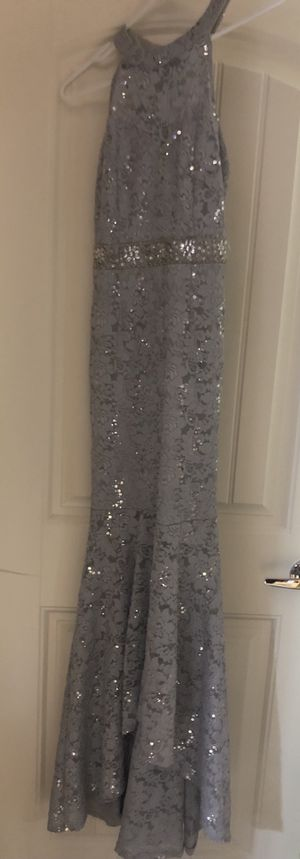 Silver Lace Gown Dress for Sale in Phoenix, AZ