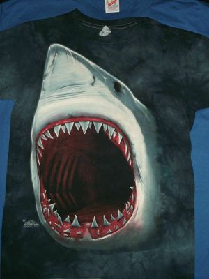 JAWS Shark 70's Cult Movie Cool Unworn Tye Dye 2009 Art NEW Small S T-SHIRT for Sale in Chicago, IL