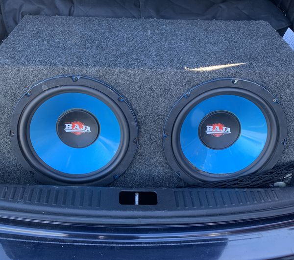 Two 12inch subwoofers BAJA