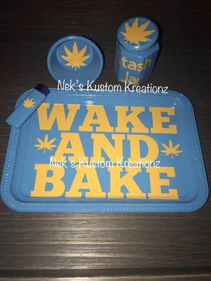 Rolling Tray Set - Wake & Bake for Sale in Philadelphia, PA