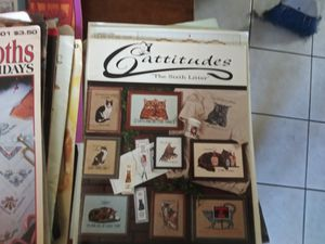 30 plus COUNTED CRISS STITCH PATTERN BOOKS AND KNITTING PATTERN BOOKS for Sale in Boston, MA