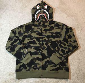 Bape shark hoodie green camo for Sale in Brooklyn, NY