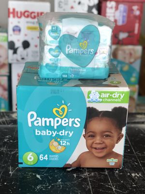 Pampers diapers and wipes bundle for Sale in Fontana, CA