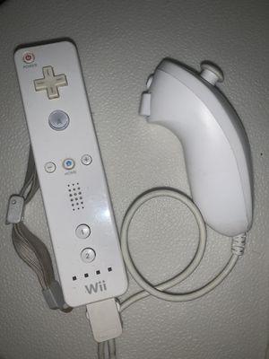 Wii oem motion plus controller plus nun chuck for Sale in Sacramento, CA