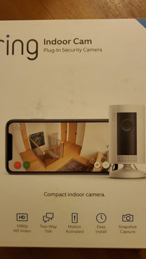 Ring indoor plug in security cam for Sale in Tacoma, WA