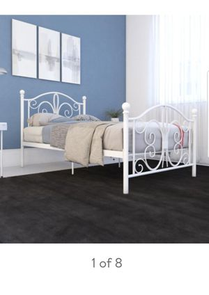 White Twin Bed for Sale in Washington, DC