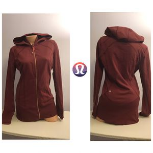 Lululemon Burgundy Zip Hoodie jacket for Sale in Boston, MA
