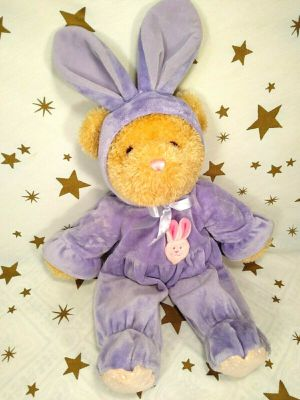 "CHECK MY OFFERS**EVERYTHING MUST GO**Plush Teddy Bear in Purple Bunny Rabbit Costume Stuffed Animal 20"" ***EXCELLENT CONDITION-CLEAN*** for Sale in Tacoma, WA"