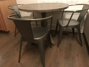 Kitchen Table and Chair Set - Farmhouse Industrial Vintage Rustic Boho for Sale in Charlotte, NC